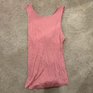 Free People Pink Open Back Tank Top